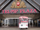 Trump Plaza, with a Wicker Rolling Basket Chair Standing Outside
